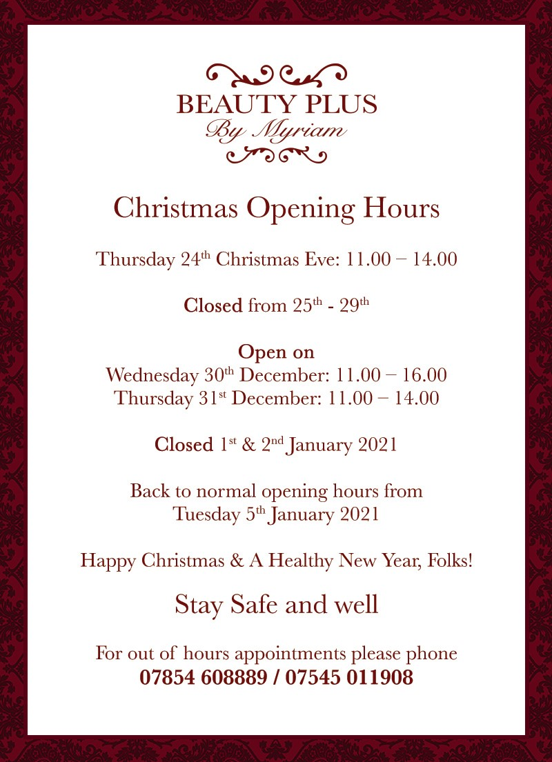 opening hours christmas facebook 2020